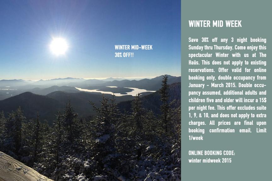 Winter Mid Week Lake Placid Ski Special